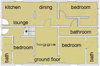 Map GROUND FLOOR of Tuscan Villa