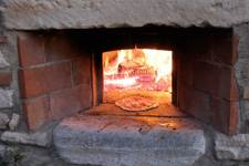 pizza made in a wood oven