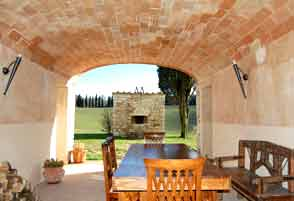 the loggia of the holiday home