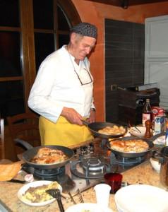 frà gigione grande cuoco in Villa Toscana
