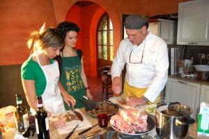 preparazione della ricetta pappardelle alla lepre scappata