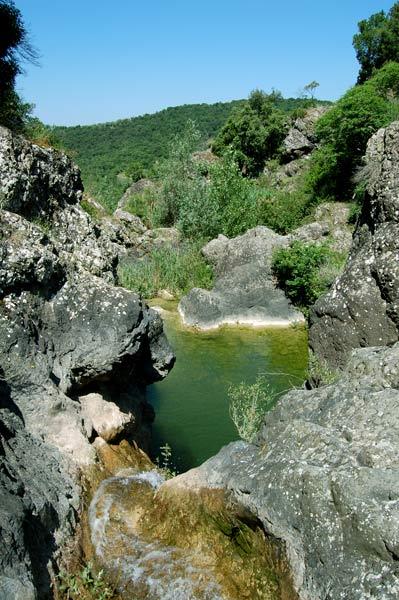 cascata della villa toscana
