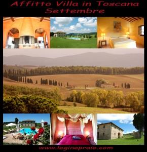 Affitto casale in Toscana a Settembre