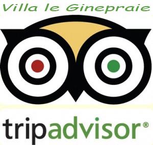 logo tripadvisor per la villa in toscana
