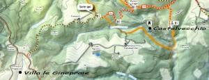 mappa da Villa San Gimignano a Castelvecchio
