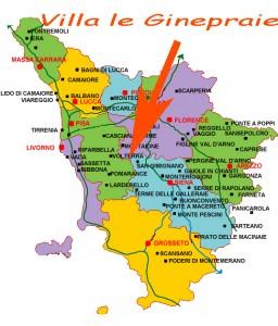 cartina geografica della toscana con indicazione del casale
