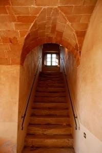 antica scalinata del casale nel chianti