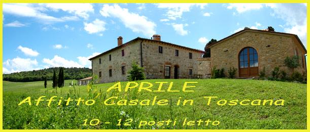 affitto villa in Toscana ad Aprile