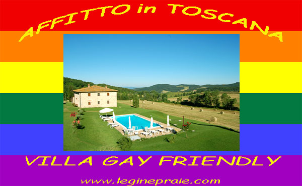 Affitto villa con piscina gay friendly