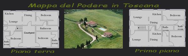 Locazione di poderi in Toscana con piscina
