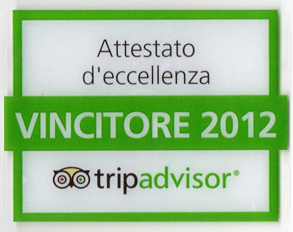 Villa in Toscana attestato eccellenza tripadvisor
