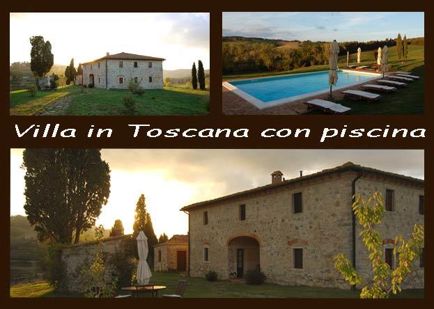 villa in Toscana con piscina in Chianti