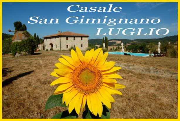 Casale con piscina a San Gimignano affitto a Luglio