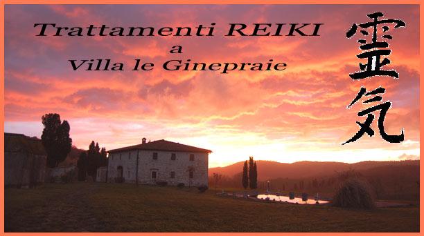 Trattamenti reiki in Villa Toscana