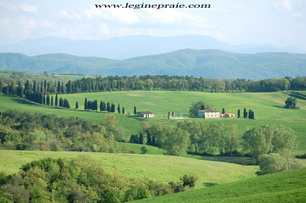 foto della villa Toscana in Primavera