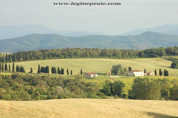 fotografia della villa Toscana in Estate