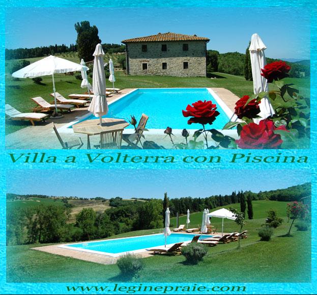villa con piscina a Volterra