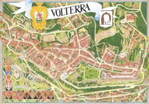 Mappa della città di Volterra in Toscana