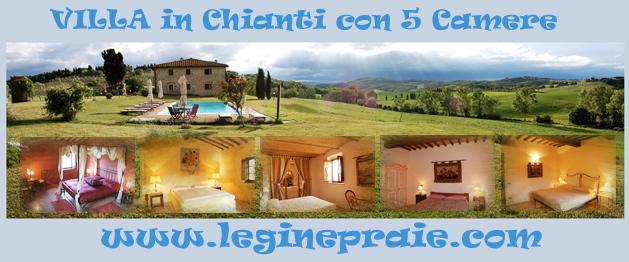 Affitto villa in Chianti con Piscina con 5 camere da Letto