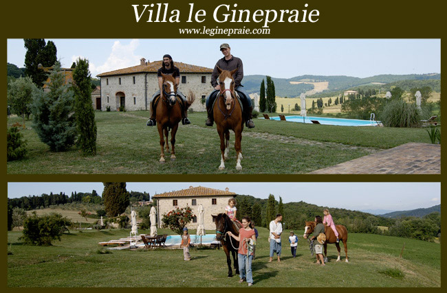 casale nell'agriturismo con cavalli in Toscana