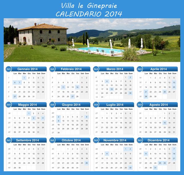 calendario prezzi 2014 casale in toscana