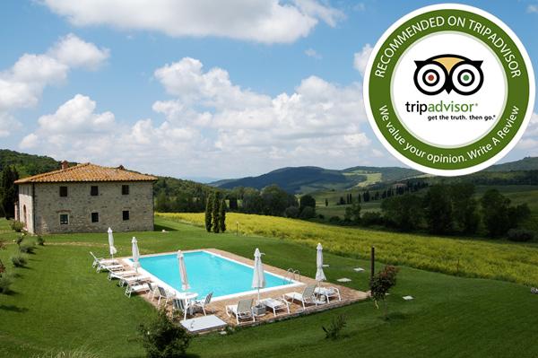 Recensioni tripadvisor per il casale in Toscana