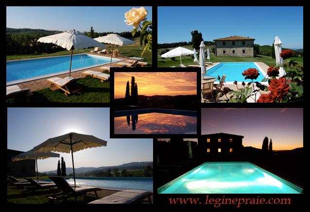 piscina panoramica della villa in toscana