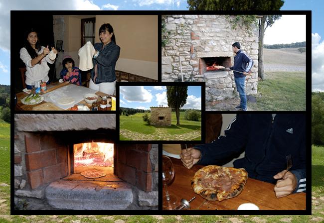 utilizzo del forno a legna nel casale toscano