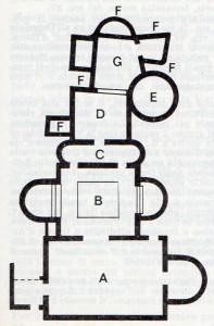 piantina dwelle antiche terme romane a Volterra