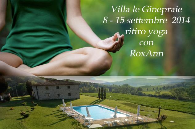 ritiro di yoga a settembre in Toscana