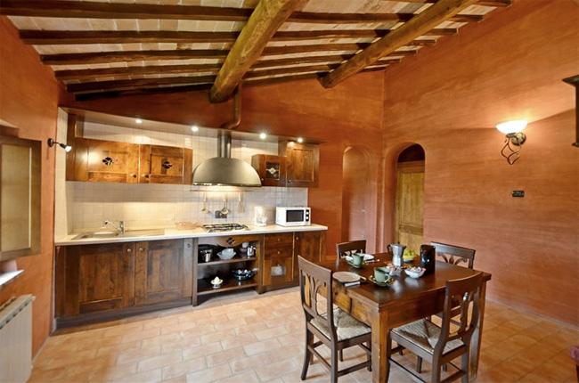 cucina appartamento per vacanze in Toscana