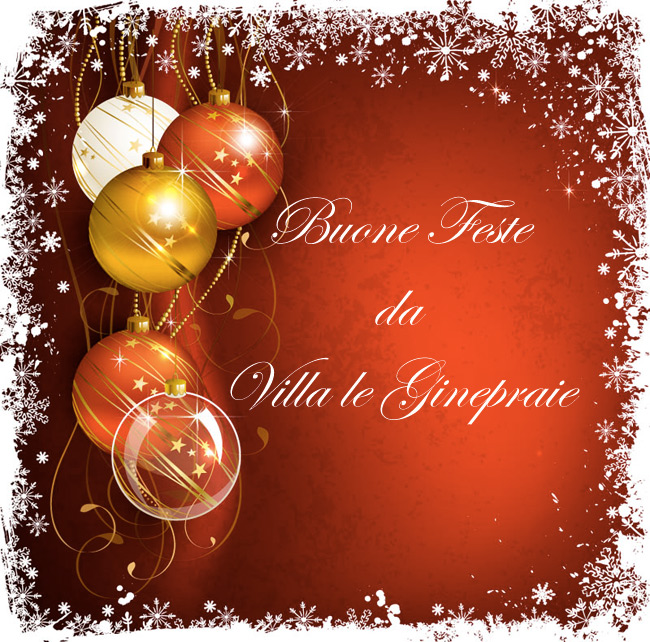 Villa Toscana buon natale e felice anno nuovo