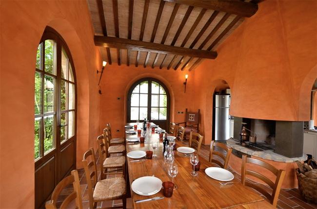 ristorante della villa in Toscana