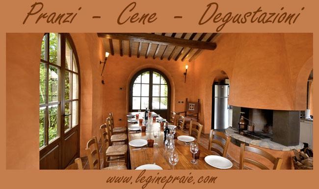 pranzi e cene in Villa Toscana
