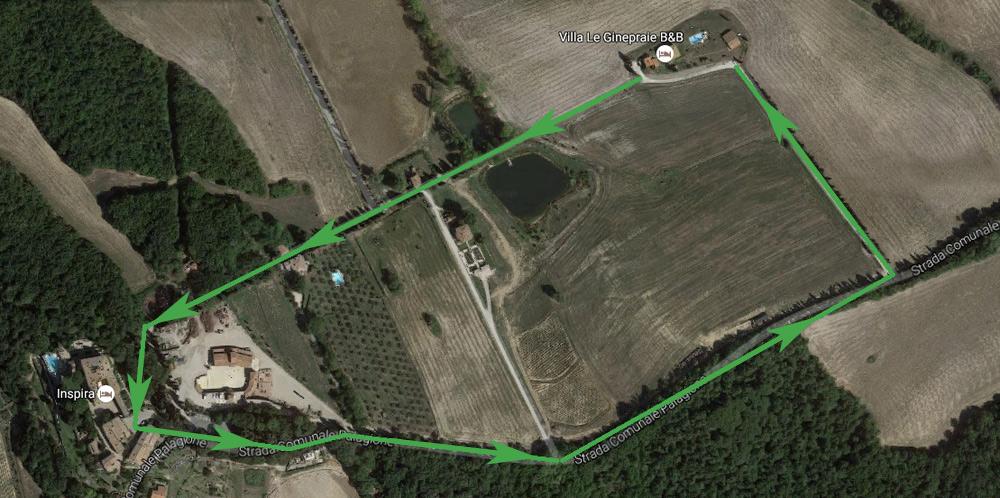 passeggiare per la tenuta di Pignano