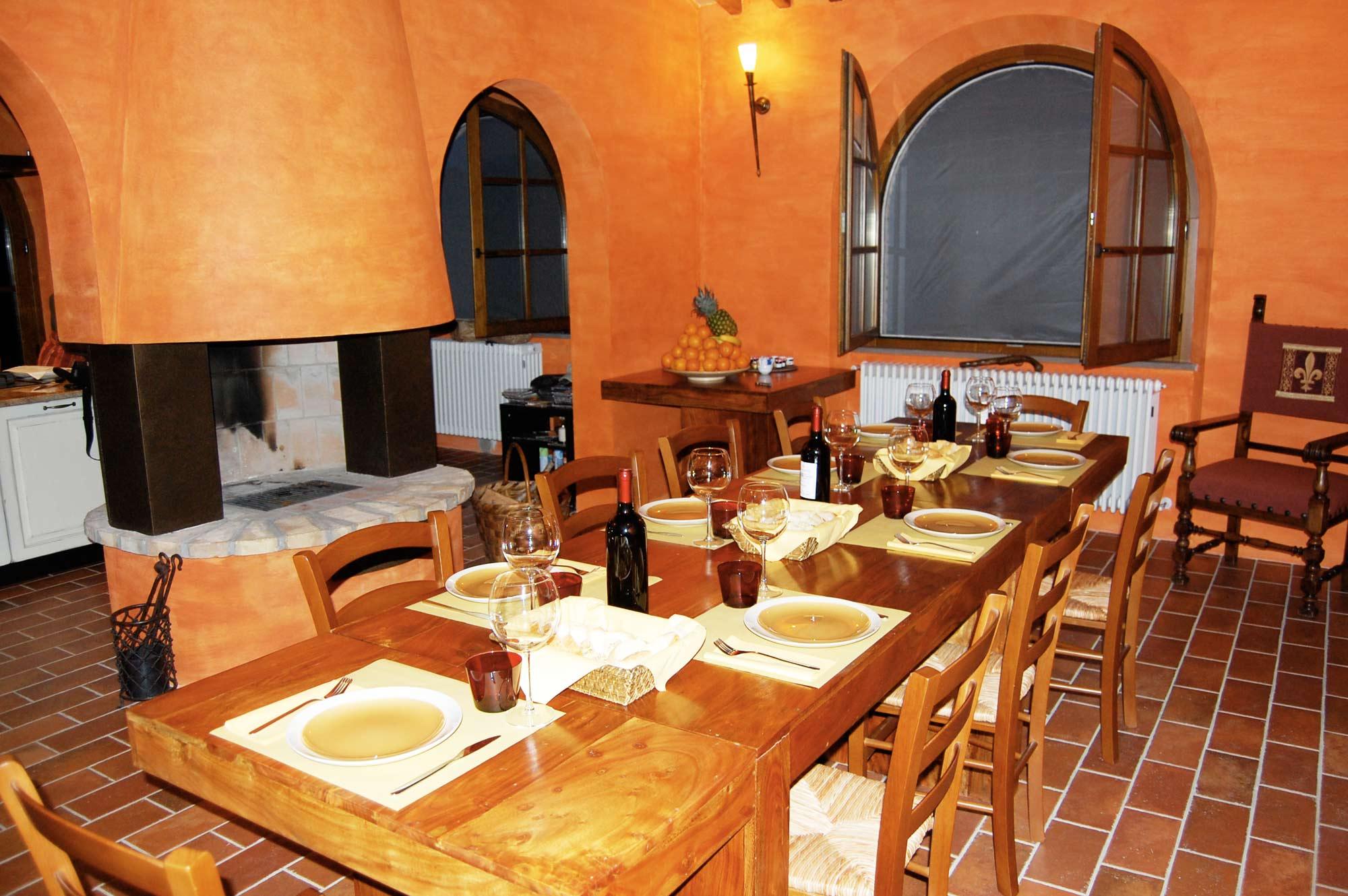 villa in toscana mezza pensione