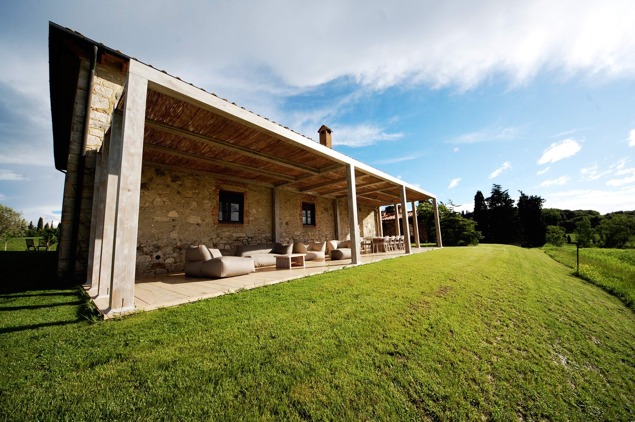 Pergolato villa in Toscana