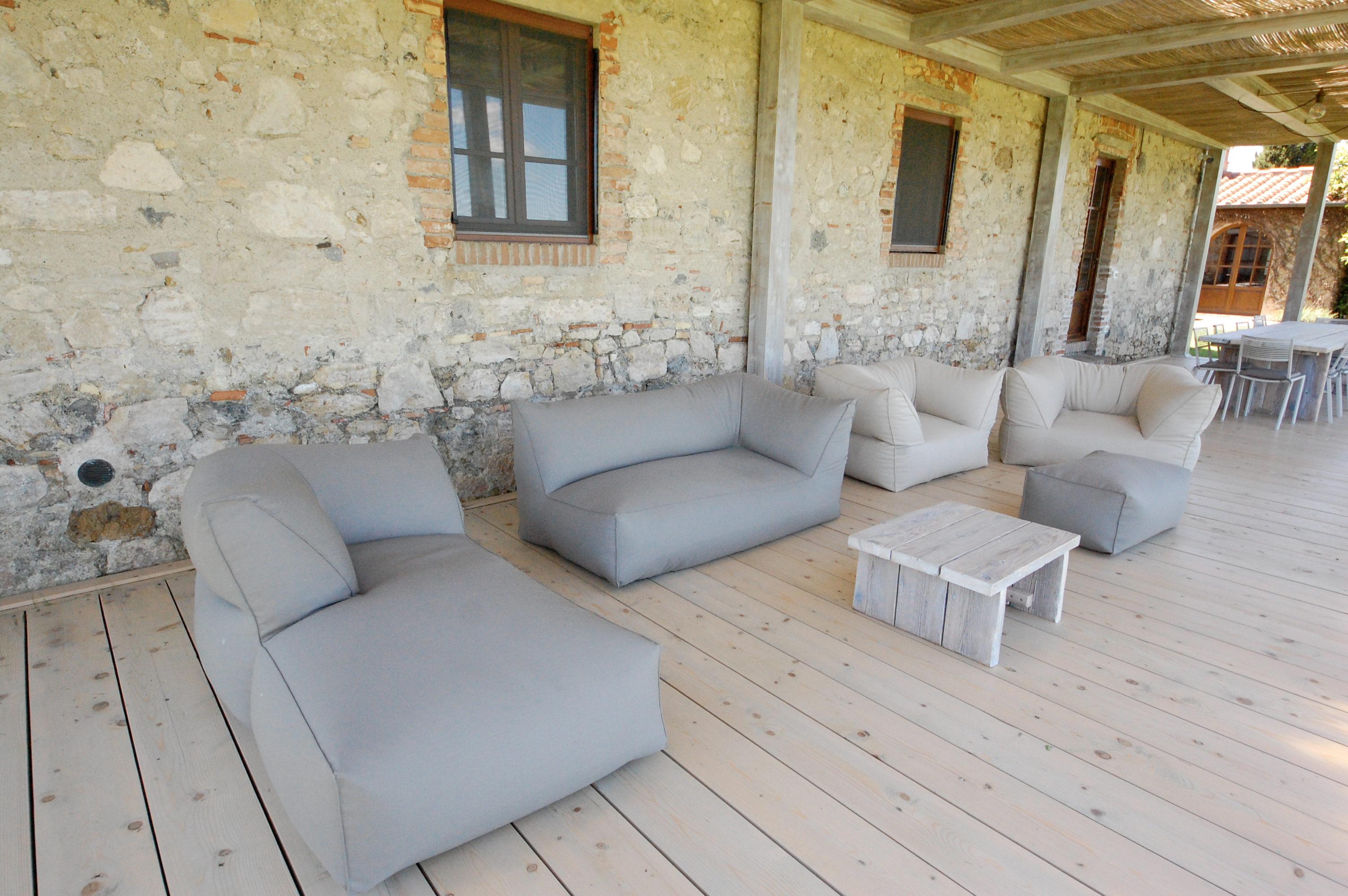 salotto pergolato casale Toscano