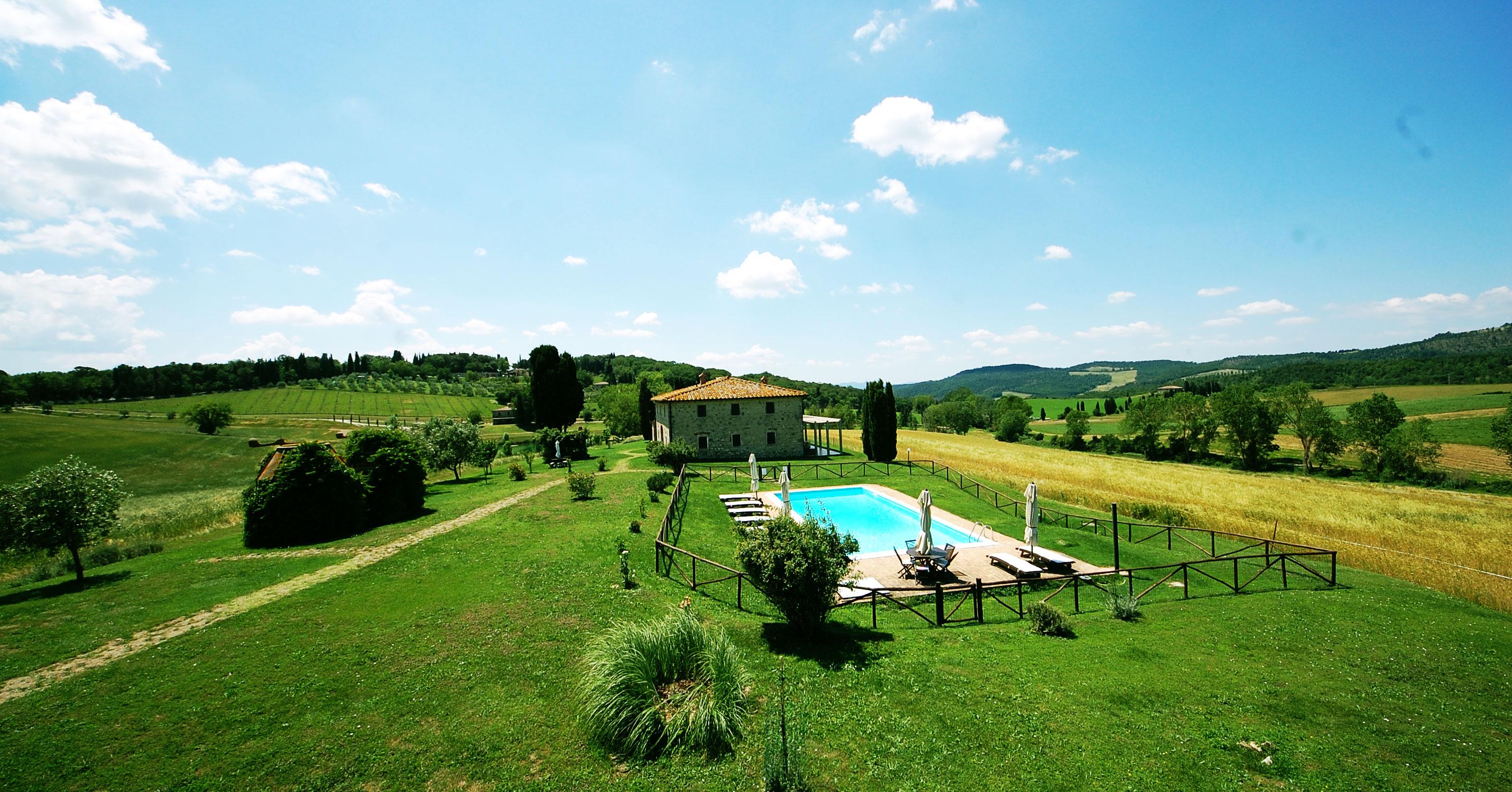 villa piscina toscana in affitto