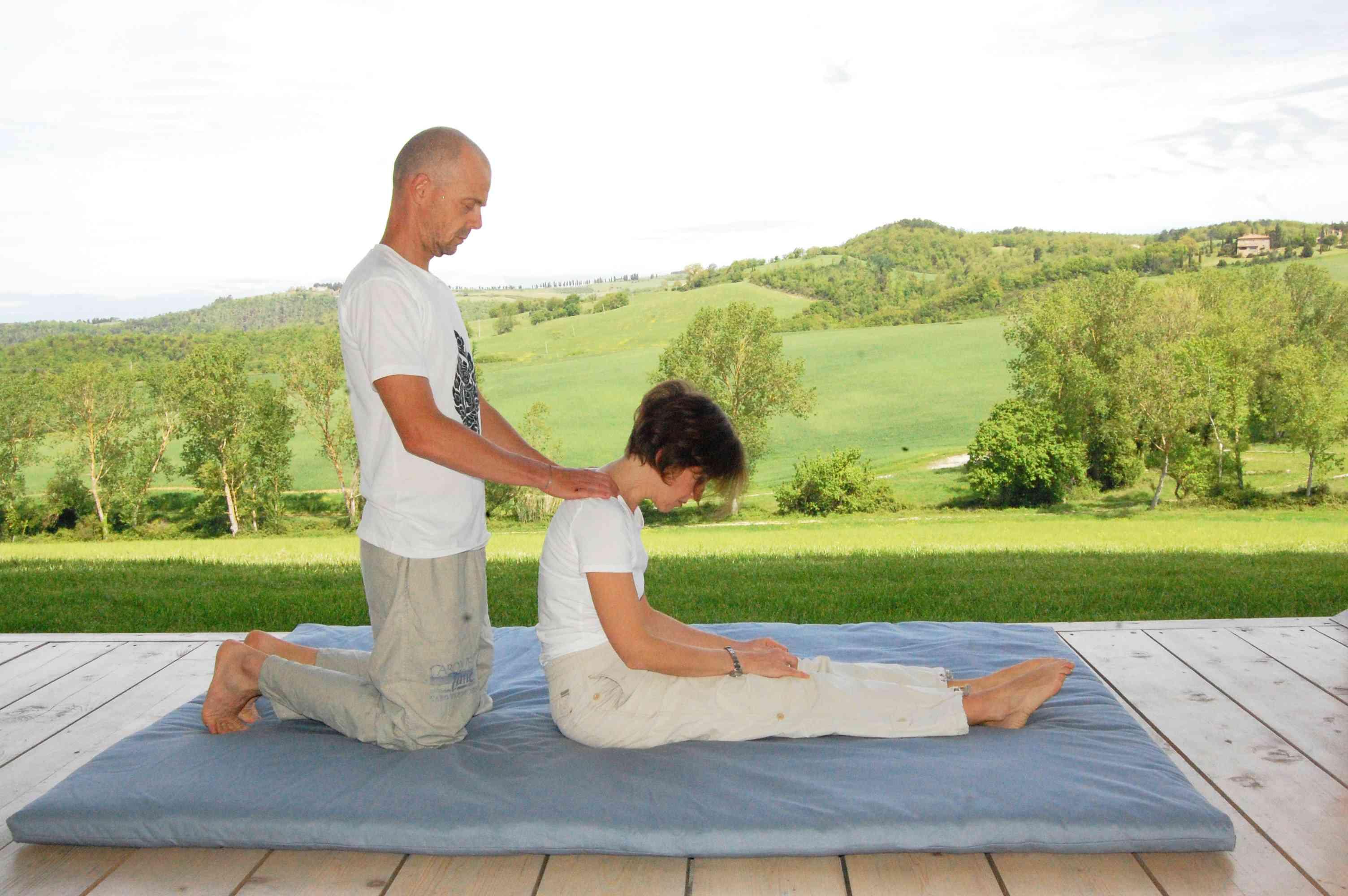 massaggio Thai spalle