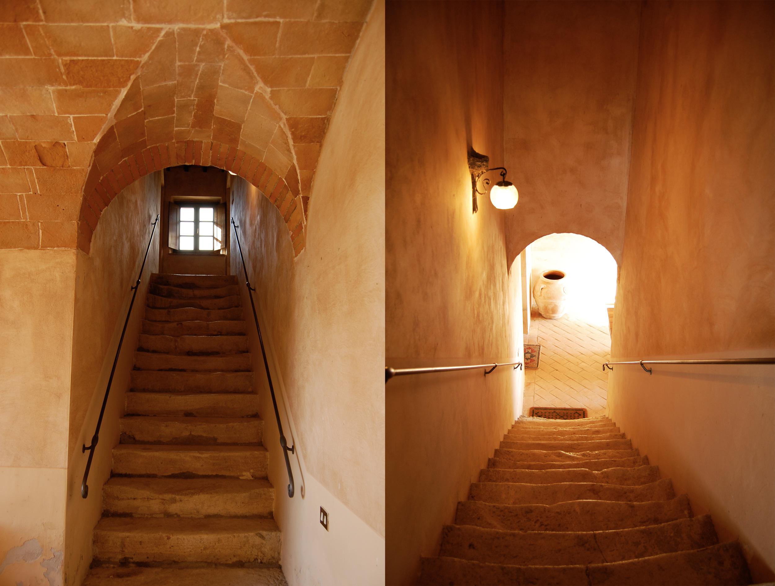 le antiche scale della villa