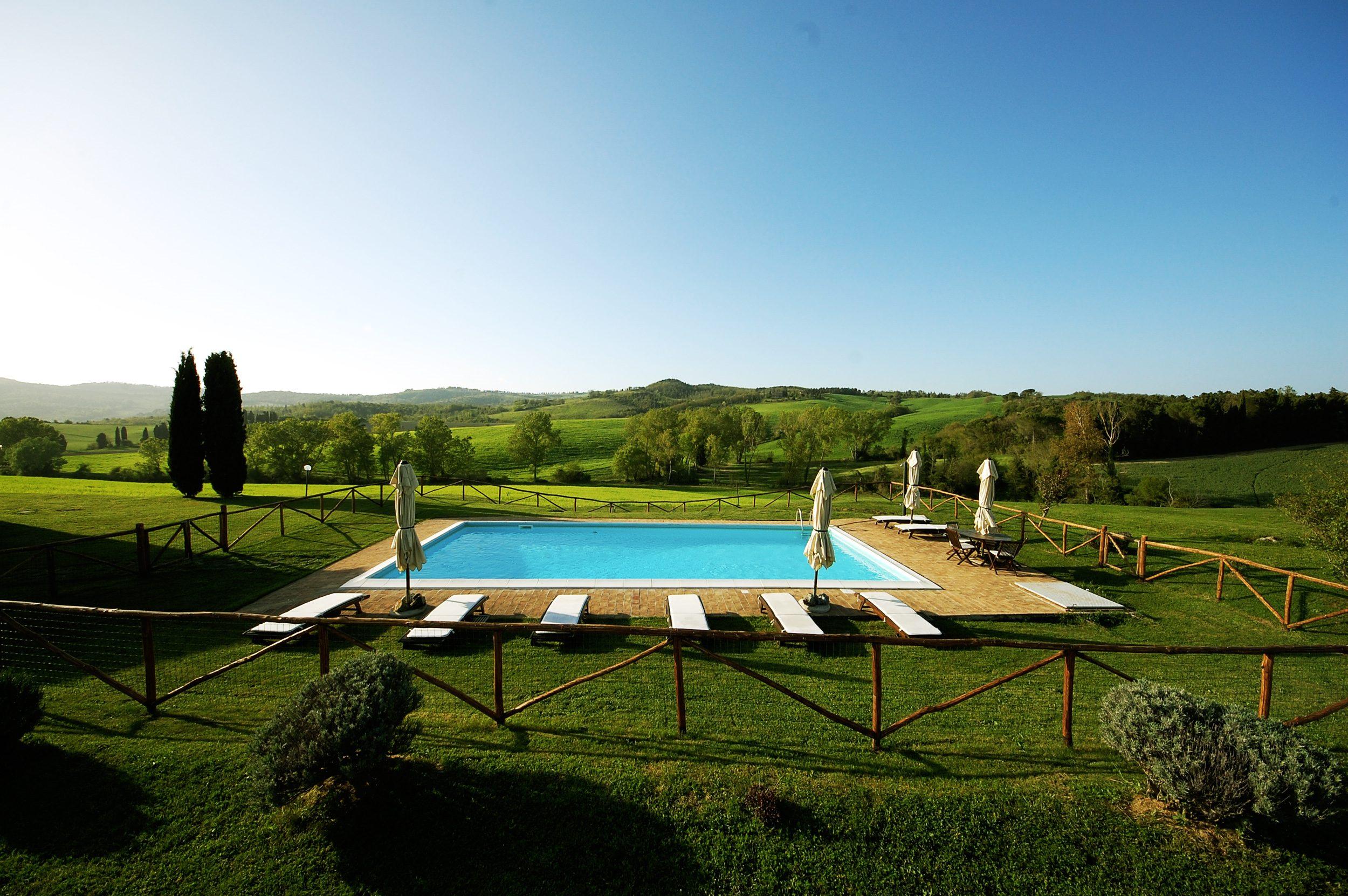 piscina panoramica della villa