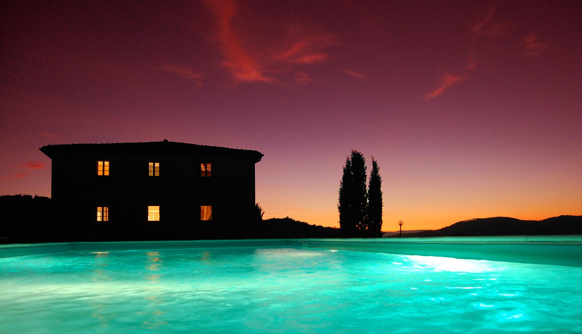 piscina villa in toscana
