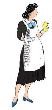 donna delle pulizie in villa toscana