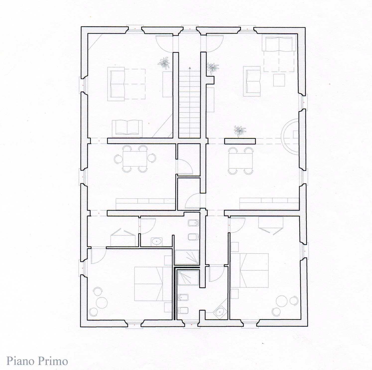 primo piano della villa