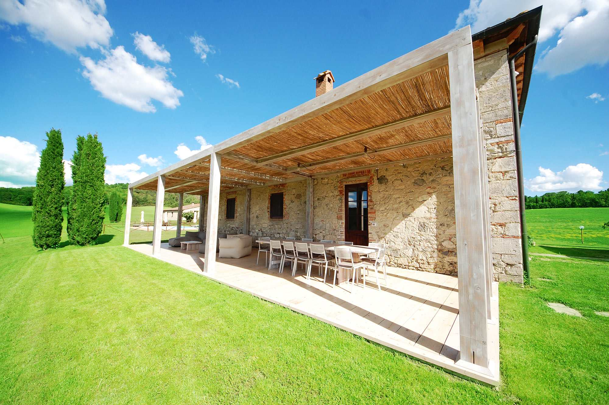 Affitto villa con grande veranda